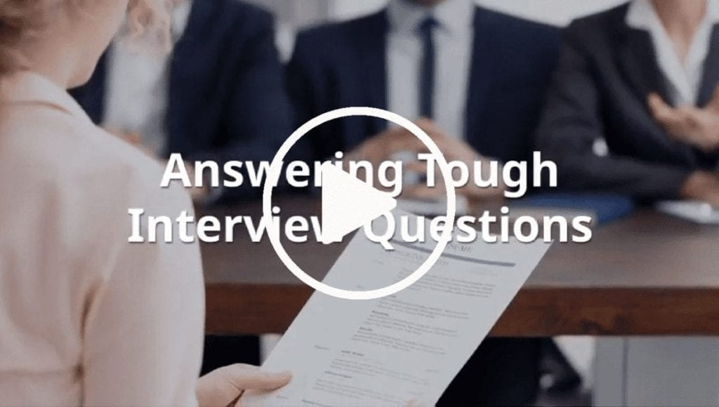 Answering Tough Interview Questions Video Cover Photo