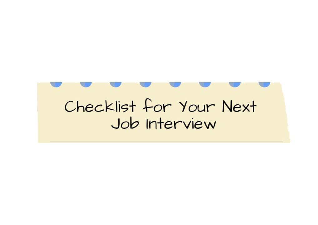 Tal Healthcare Infographics about the checklist for your next job interview.