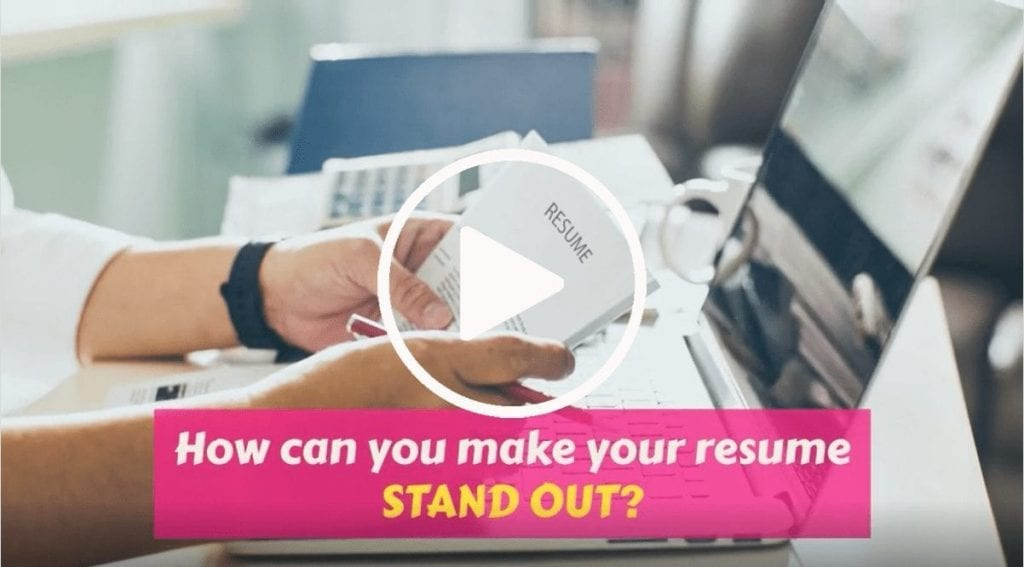 How can you make your resume stand out video cover photo