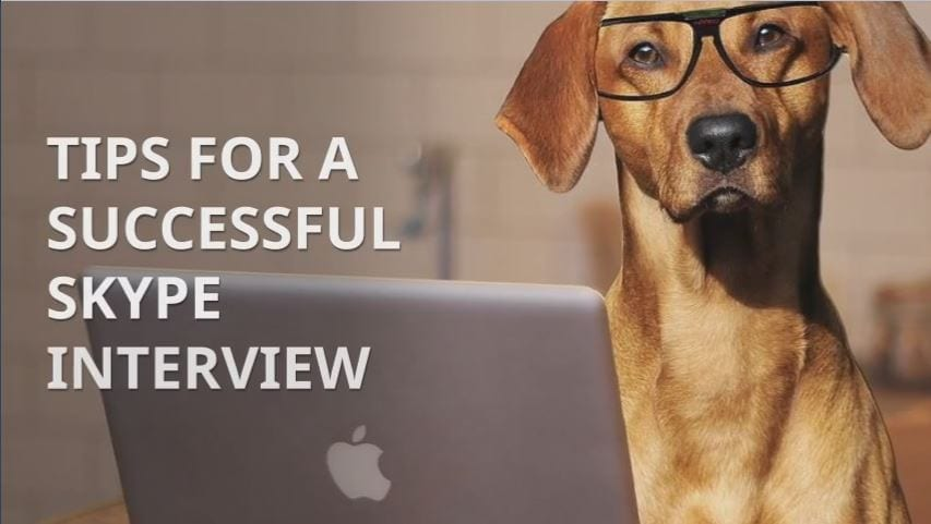 Tips for a successful skype interview cover photo