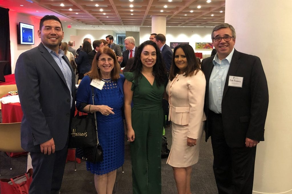 Pictured from left to right: Patrick Mancuso, Lois Sacks, Paula Gutierrez, Maria Miranda, Bob Prosperino
