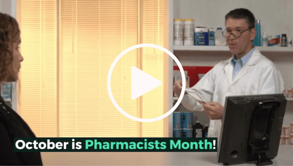 October Pharmacist Month Video Play Button